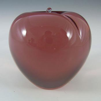 Wedgwood Lilac Glass Apple Paperweight RSW230 - Marked