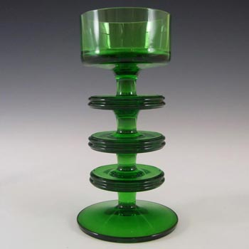 MARKED Wedgwood Green Glass Sheringham Candlestick RSW13/3