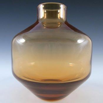 Wedgwood/Stennett-Willson Amber Glass Vase - Marked