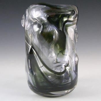 Whitefriars #9609 Wilson/Dyer Streaky Green Glass Knobbly Vase
