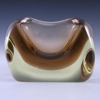Zelezny Brod Czech Amber Glass Vase - Miloslav Klinger