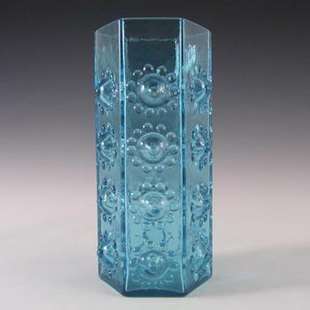 Dartington #FT95 Frank Thrower Nipple Blue Glass Vase