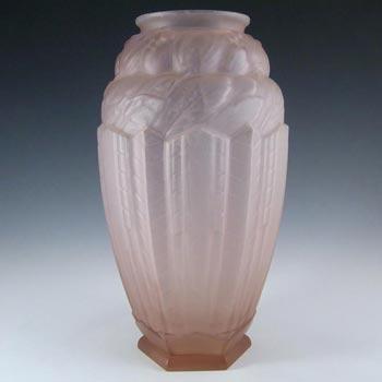 Jobling #B1 RARE 1930's Art Deco Pink Glass 'Lambton' Vase