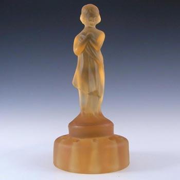 Cambridge Glass Art Deco Nude 'Draped Lady' Figurine