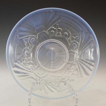 Jobling #6000 Art Deco Opaline/Opalescent Glass Flower Bowl