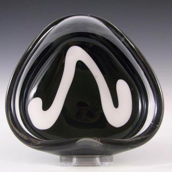 Flygsfors Coquille Glass Bowl by Paul Kedelv Signed '58