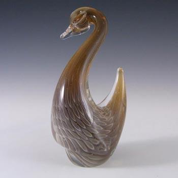 FM Konstglas/Ronneby Sfumato Glass Swan/Bird - Label