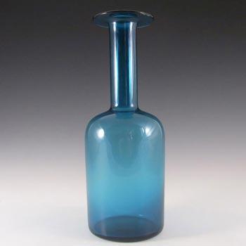Holmegaard Otto Brauer Blue Glass Gulvvase / Gul Vase