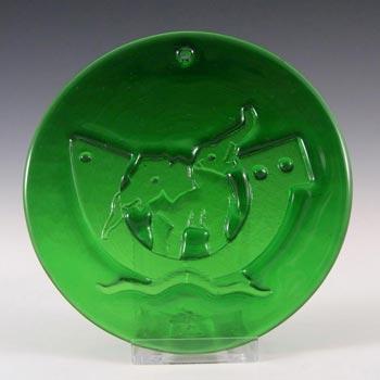 Holmegaard Michael Bang Green Glass Noahs Arc Suncatcher