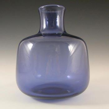 Holmegaard #17796 Per Lutken Blue Glass 'Safir' Vase - Signed