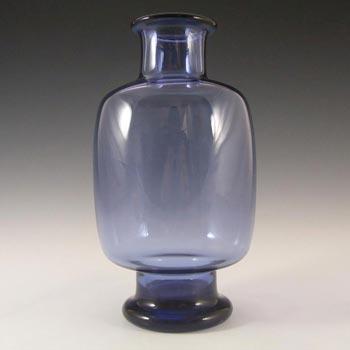 Holmegaard #290098 Per Lutken Blue Glass 'Safir' Vase - Signed