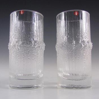 Iittala Tapio Wirkkala Swedish Glass 'Niva' Tumblers - Label