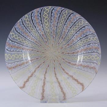 Salviati Murano Zanfirico & Yellow & Orange Glass Plate