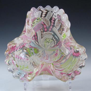 AVeM Murano 1950's Zanfirico + Aventurine Glass Bowl