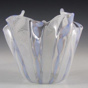 Murano Glass Zanfirico Fazzoletto Handkerchief Vase
