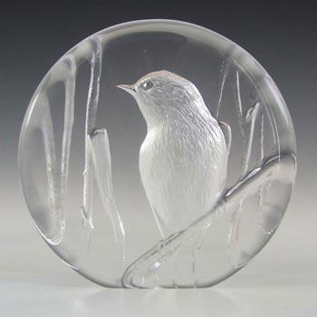 Mats Jonasson / Royal Krona #99164 Glass Bird Paperweight - Signed