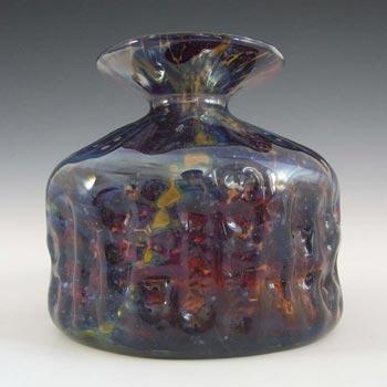 Mdina Maltese 'Tortoiseshell' Brown Glass Vase - Signed