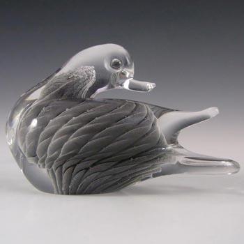 V. Nason & Co Murano Sfumato Glass Bird Sculpture - Label