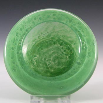 Stevens + Williams / Royal Brierley Clouded Green Glass Bowl