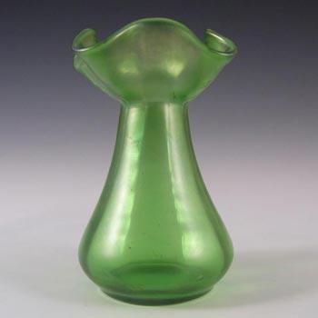 Loetz Art Nouveau Green Glass Creta Glatt Vase
