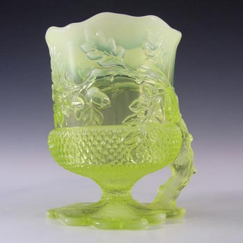 Mosser Glass Vaseline / Pearline Uranium Glass Vase