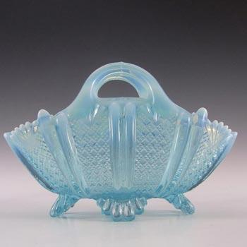 Davidson 1900's Blue Pearline Glass 'Richelieu' Bowl