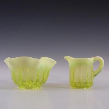 Davidson Primrose Pearline Glass 'Lady Caroline' Jug + Bowl