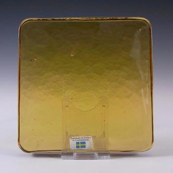 Lindshammar Swedish Amber Glass Architectural Slab – Label