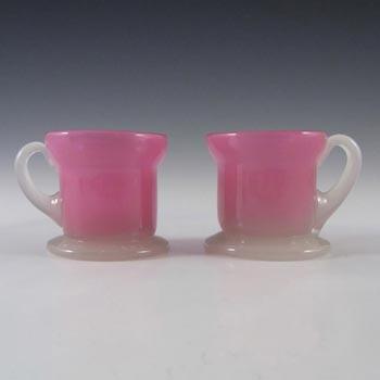 Pair of Stevens + Williams Stourbridge Alabaster Glass Cups