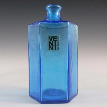 Venini Murano Blue Glass 'Vasetti' Vase - Signed '79