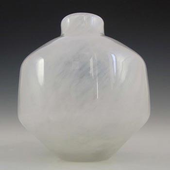 Wedgwood/Stennett-Willson White Opal Glass Vase - Marked
