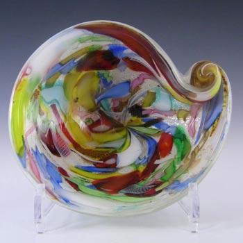 AVeM Murano 1950's Zanfirico + Aventurine White Glass Bowl