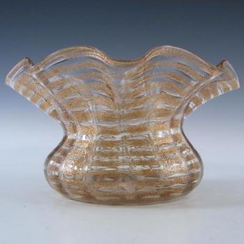 Salviati Murano Copper Aventurine Glass Finger Bowl