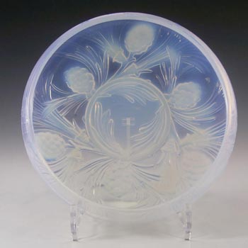 Jobling #5000 Art Deco Opaline/Opalescent Glass Fircone Bowl