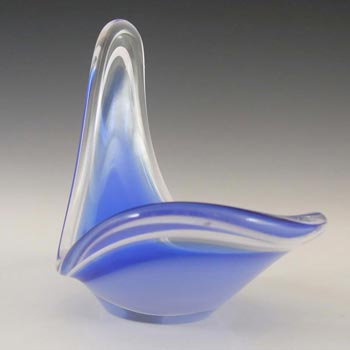 Flygsfors Coquille Glass Bowl by Paul Kedelv Signed '59