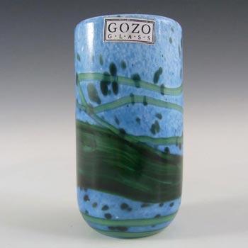 Gozo Maltese Glass 'Seaweed' Vase - Signed + Labelled