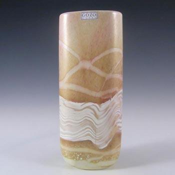 Gozo Maltese Glass 'Sunshine' Vase - Signed + Labelled