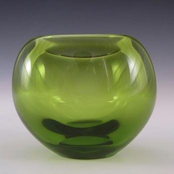Holmegaard #18119 Per Lutken Green Glass 'Majgrøn' Vase - Signed