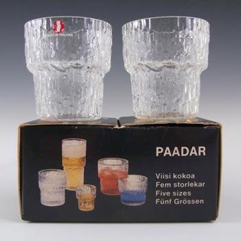 Iittala Glass Pair Paadar Tumblers Tapio Wirkkala - Boxed