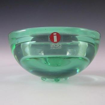 Iittala Green Glass Annaleena Hakatie Candle Votive/Bowl
