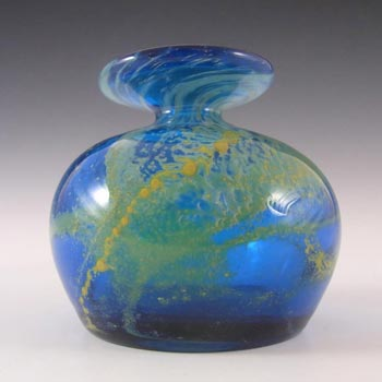 Mdina Maltese Blue & Yellow Glass Vase - Signed