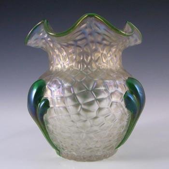 Art Nouveau 1900's Iridescent Kralik Glass 'Martelé' Vase