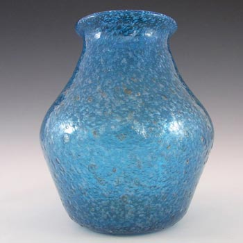 Murano/Venetian Blue Glass 'Pulegoso' Bubble Vase