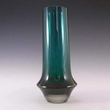 Riihimaki #1378 Riihimaen Tamara Aladin Green Glass Vase - Marked