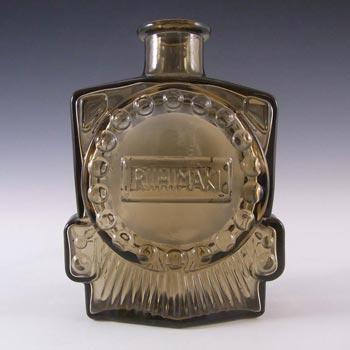 Riihimaki 'Veturipullo' Riihimaen Siiroinen Brown Glass Bottle