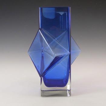 Riihimaki #1388 Erkkitapio Siiroinen Blue Glass Pablo Vase