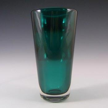 Whitefriars #9584 Baxter Green Glass Flared Vase