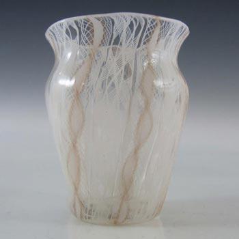 Salviati Murano Zanfirico & Aventurine Glass Vase