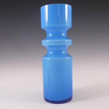Alsterfors #S5000 Per Olof Strom Blue Cased Glass Vase