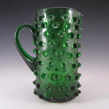 Empoli Verde Italian Green Glass Spikey Seed Pod Jug / Pitcher